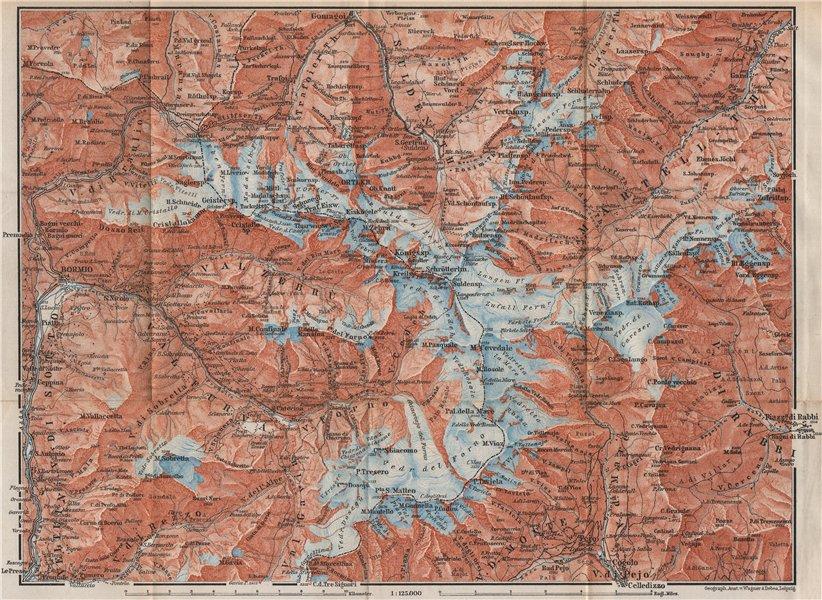 Associate Product ORTLER ALPS. Ortler Alpen Ortles-Cevedale Bormio Solda Santa Caterina 1899 map