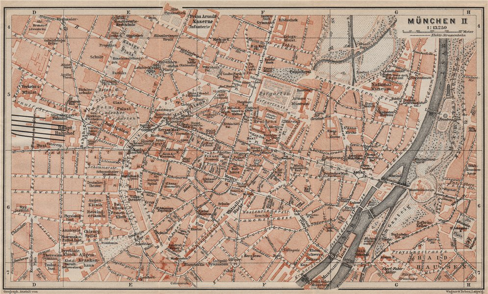Associate Product MÜNCHEN MUNICH town city innere stadtplan. Munchen Öffentliche Gebäude 1911 map