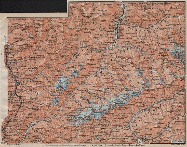 Associate Product ZILLERTALER ALPEN ALPS. Mayrhofen Matrei Steinach. Tyrol/Südtirol 1911 old map