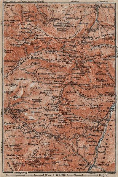 Associate Product SCHLERN-ROSENGARTEN GROUP. Sciliar-Catinaccio Südtirol Welschnofen 1911 map