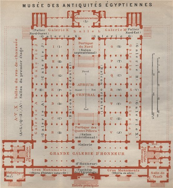 Associate Product EGYPTIAN MUSEUM OF ANTIQUITIES MUSÉE ANTIQUITÉS ÉGYPTIENNES Floor plan 1914 map