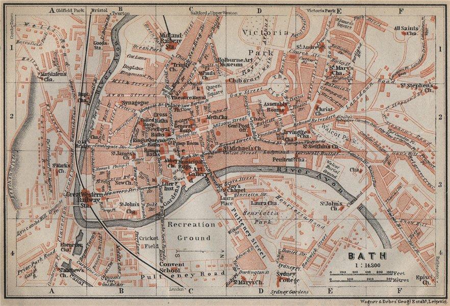 Associate Product BATH town city plan. Circus Pulteney Bridge Royal Crescent. Somerset 1910 map