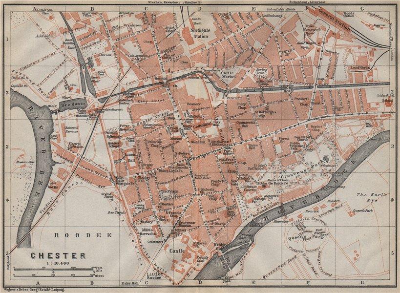 Associate Product CHESTER town city plan. Grosvenor Precinct Handbridge. Cheshire 1910 old map