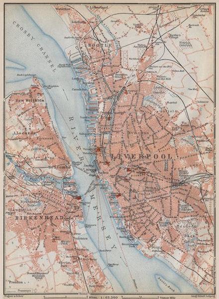 Associate Product MERSEYSIDE. LIVERPOOL & BIRKENHEAD town city plan. Bootle Everton 1910 old map