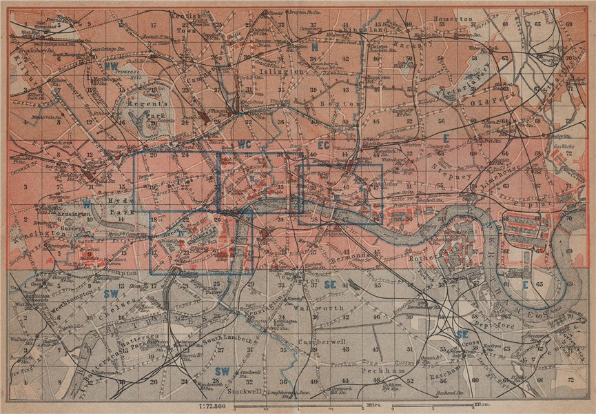 Associate Product LONDON. Westminster Camden City Southwark Tower Hamlets Islington 1930 old map
