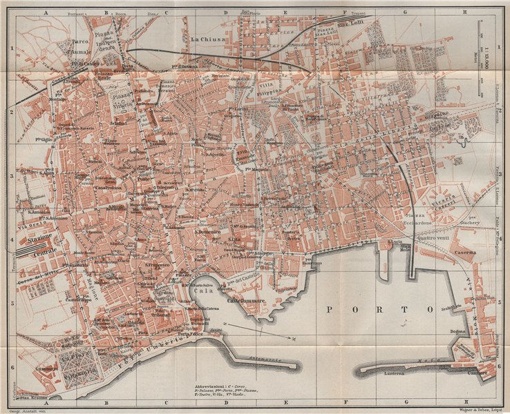 Associate Product PALERMO antique town city plan piano urbanistico. Italy mappa 1911 old