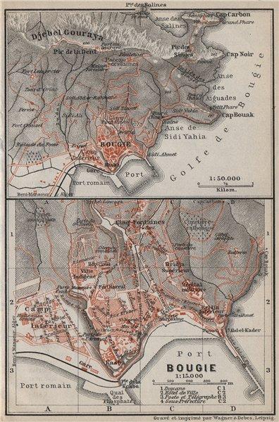 Associate Product BOUGIE / BÉJAÏA town city plan & environs. Bejaia. Algeria carte 1911 old map