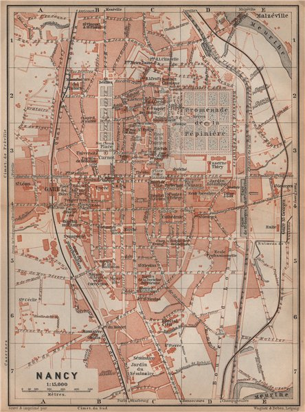 Associate Product NANCY antique town city plan de la ville. Meurthe-et-Moselle carte 1899 map