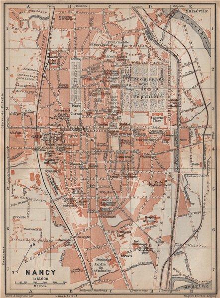 Associate Product NANCY antique town city plan de la ville. Meurthe-et-Moselle carte 1905 map