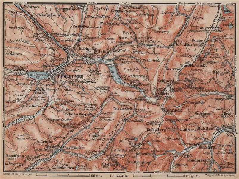 Associate Product GÉRARDMER environs. Hohneck La Bresse. Ballons des Vosges. Gerardmer 1905 map