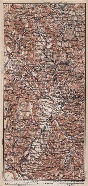 Associate Product KLODZO LAND. E Sudeten Sudety Wschodnie Ziemia Klodzka Gory Stolowych 1886 map