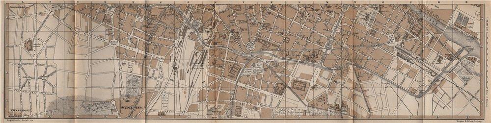 Associate Product BERLIN SOUTH antique town city innere stadtplan. Neu-Schöneberg karte 1886 map