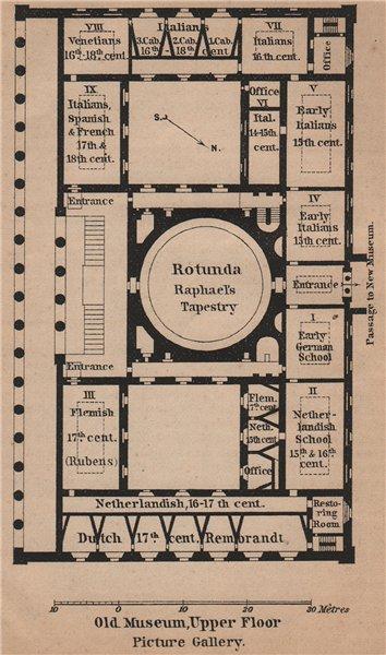 Associate Product ALTES/OLD MUSEUM Berlin. Upper floor plan. Antiquarium karte. SMALL 1900 map