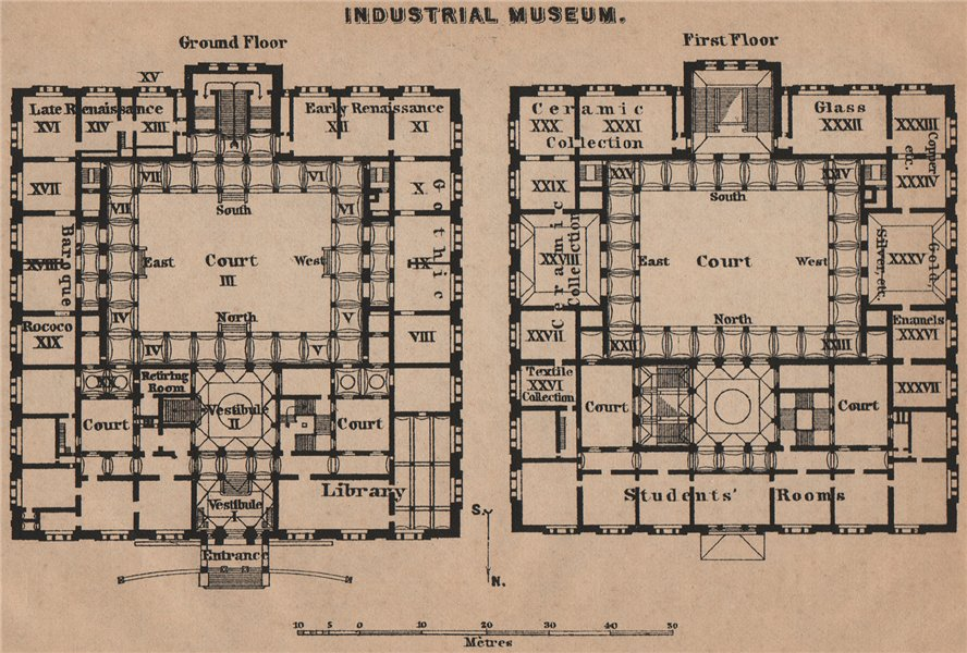 Associate Product MARTIN-GROPIUS-BAU Berlin Kunstgewerbemuseum Decorative Arts plan SMALL 1900 map