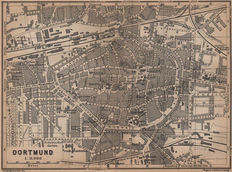 Associate Product DORTMUND town city stadtplan & Hohensyburg. Northrhine-Westfalia karte 1900 map
