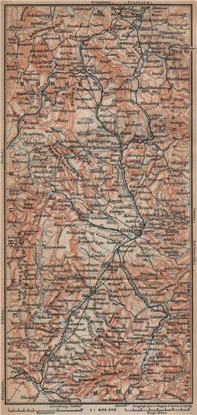 Associate Product KLODZKO LAND. E Sudeten Sudety Wschodnie Ziemia Klodzka Gory Stolowych 1900 map