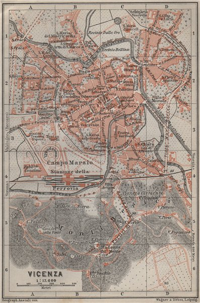 Associate Product VICENZA antique town city plan piano urbanistico. Italy mappa 1909 old