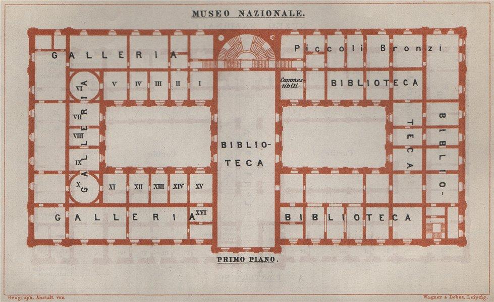 Associate Product MUSEO NAZIONALE ROMANO; PRIMO PIANO first floor plan. Rome mappa. SMALL 1909
