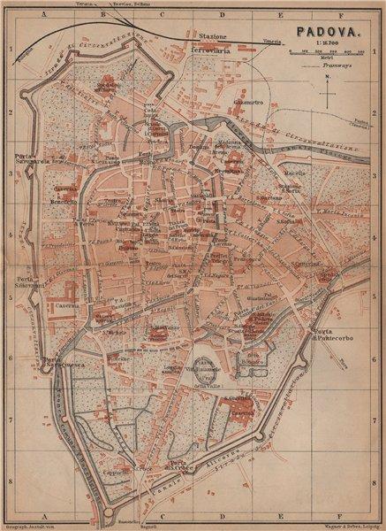Associate Product PADOVA PADUA antique town city plan piano urbanistico. Italy mappa 1899