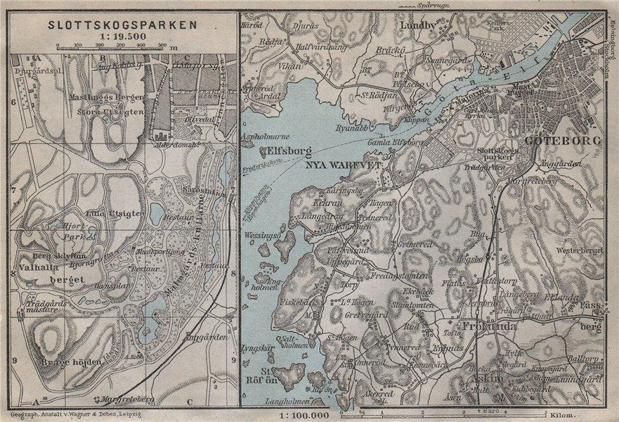 Associate Product GOTA ESTUARY. Göta älv. Gothenburg Göteborg environs. Sweden karta 1912 map