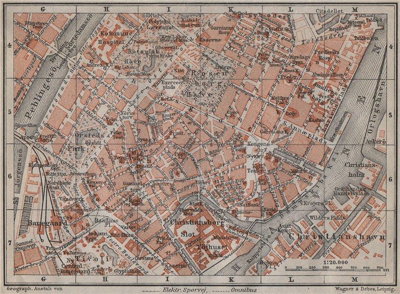 Associate Product COPENHAGEN København Kobenhavn INNER TOWN city byplan. Denmark kort 1912 map