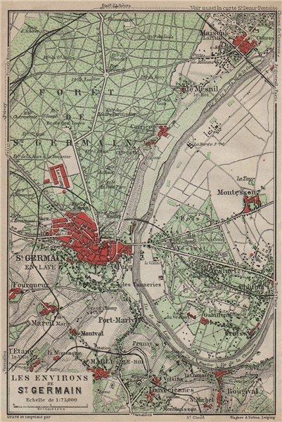 Associate Product ST-GERMAIN-EN-LAYE & environs. Marly-le-Roi Forêt Vesinet. Yvelines 1907 map