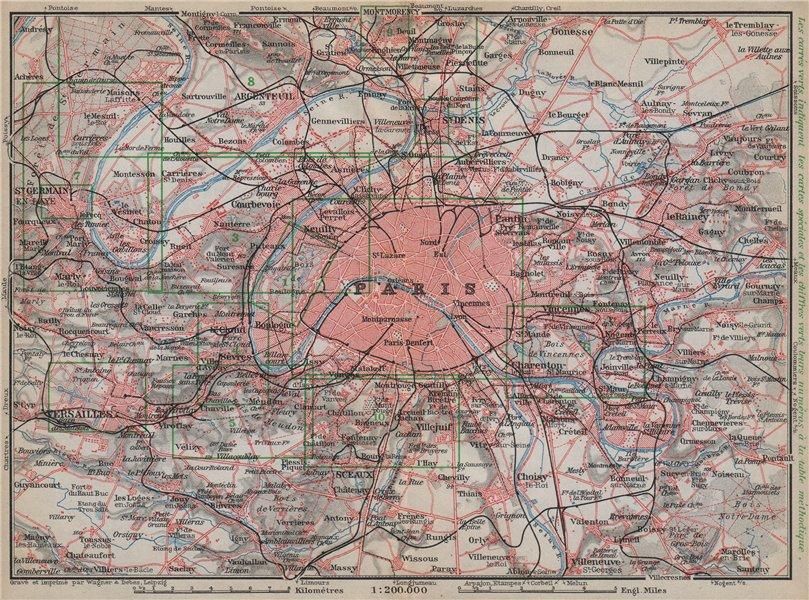 Associate Product PARIS ET SES ENVIRONS. St-Germain-en-Laye Versailles St Cloud carte 1910 map