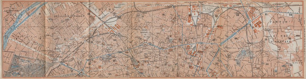 Associate Product NORTHERN PARIS town city plan de la ville. 8e 9e 10e 17e 18e 19e carte 1910 map