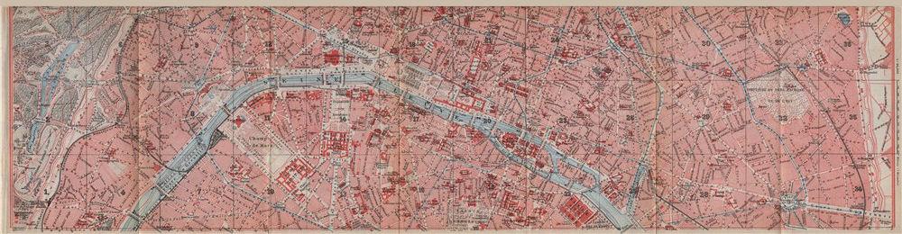 Associate Product CENTRAL PARIS town city plan de la ville. 1e 2e 3e 4e 6e 11e 16e 20e 1910 map