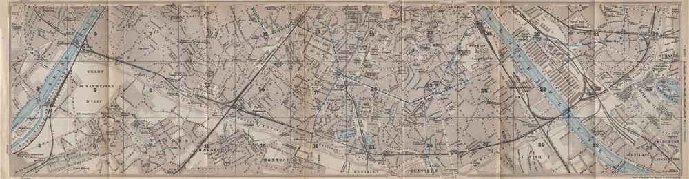 Associate Product SOUTHERN PARIS town city plan de la ville. 12e 13e 14e 15e carte 1910 old map