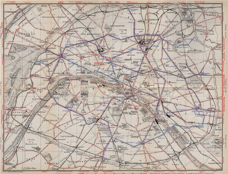 Associate Product PARIS TRAMWAYS & METROPOLITAIN RAILWAYS. Underground railways carte 1910 map