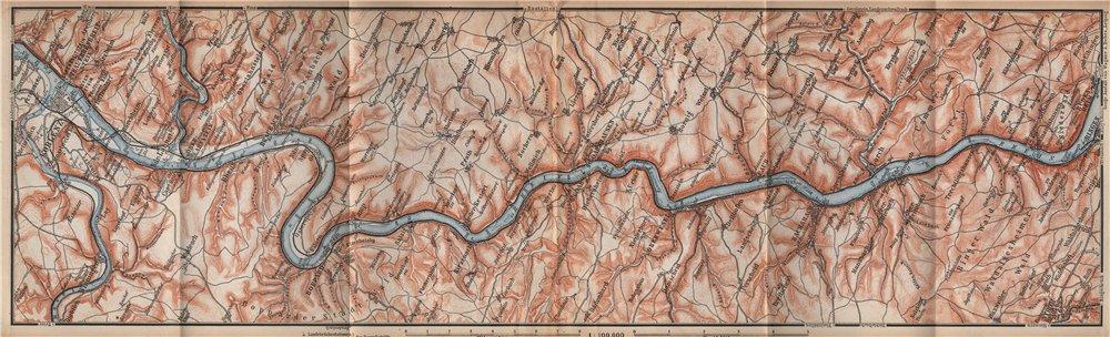 Associate Product RHINE/RHEIN. KOBLENZ-BINGEN Oberes Mittelrheintal Rhine Gorge topo-map 1896