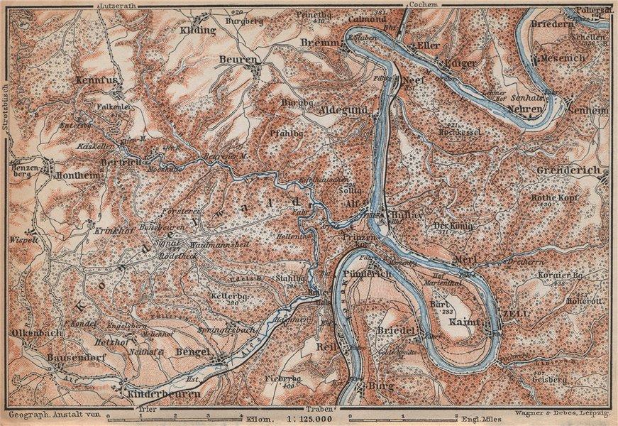 Associate Product MOSEL. Zeller Hamm. Alf Kondelwald Moselle Eifel. Rhineland-Palatinate 1896 map