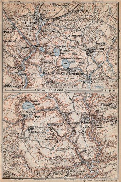 Associate Product DAUNER & MEERFELDER MAARE. Manderscheid Malberg Schalkenmehren karte 1896 map