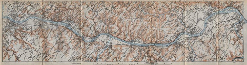 Associate Product RHINE/RHEIN. Bonn-Bad Godesberg-Remagen-Andernach-Neuwied-Koblenz 1926 old map