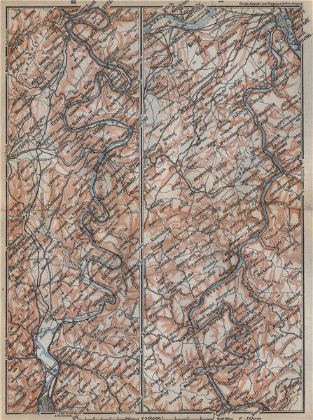 Associate Product MOSELLE. Trier-Schweich-Leiwen-Bernkastel-Kues-Koblenz. Treves Coblenz 1926 map