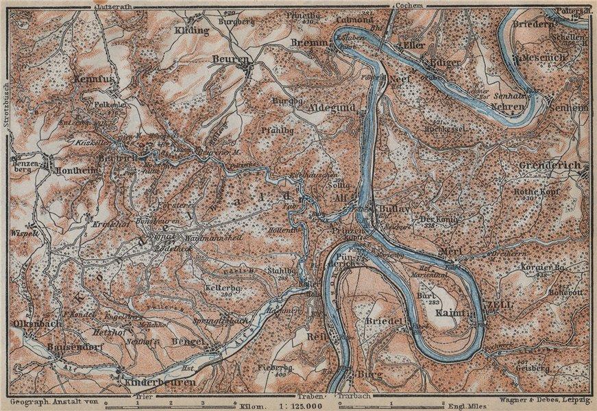 Associate Product MOSEL. Zeller Hamm. Alf Kondelwald Moselle Eifel. Rhineland-Palatinate 1926 map