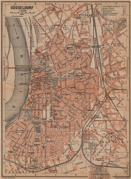 Associate Product DÜSSELDORF town city stadtplan. Northrhine-Westfalia. Dusseldorf karte 1903 map