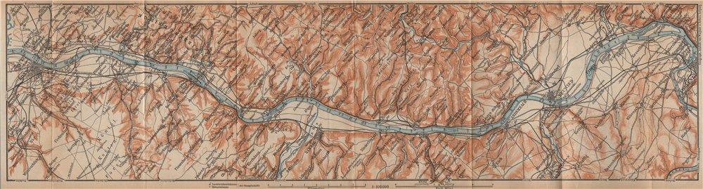 Associate Product RHINE/RHEIN. Bonn-Bad Godesberg-Remagen-Andernach-Neuwied-Koblenz 1903 old map