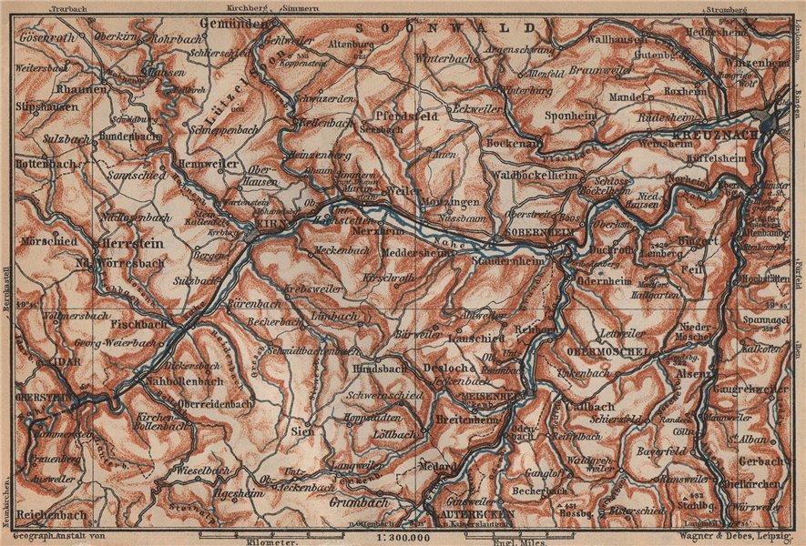 Associate Product NAHETAL. Idar-Oberstein Kirn Monzingen Rüdesheim Kreuznach Sobernheim 1903 map
