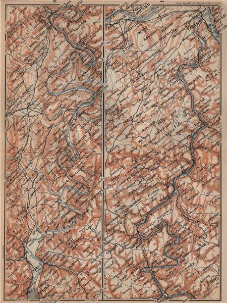 Associate Product MOSELLE. Trier-Schweich-Leiwen-Bernkastel-Kues-Koblenz. Treves Coblenz 1903 map