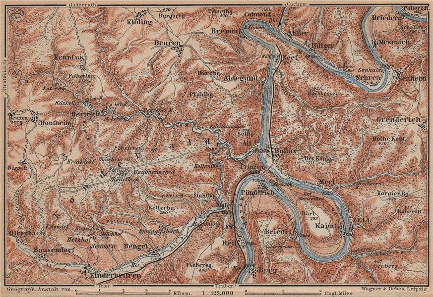 Associate Product MOSEL. Zeller Hamm. Alf Kondelwald Moselle Eifel. Rhineland-Palatinate 1903 map