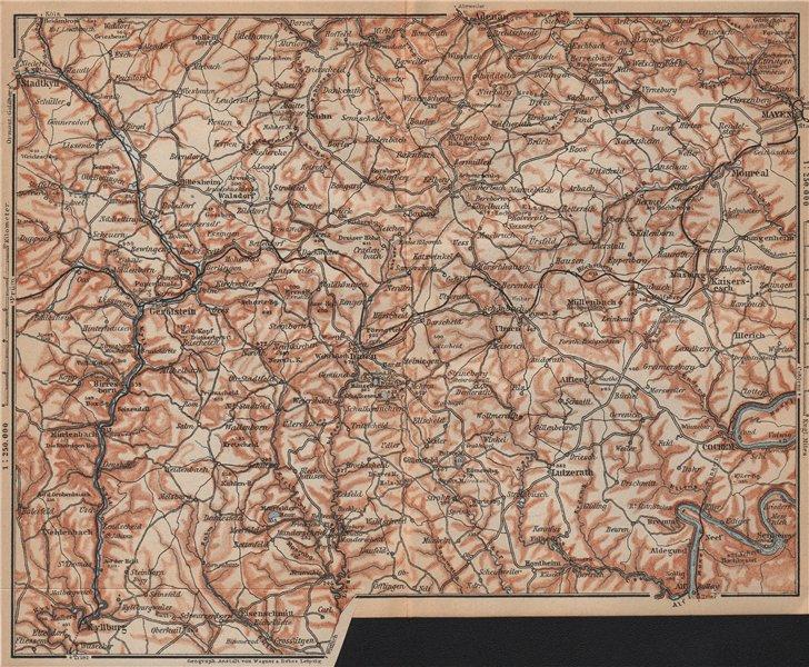 Associate Product VULKANEIFEL. THE VOLCANIC EIFEL topo-map. Gerolstein. Germany karte 1903