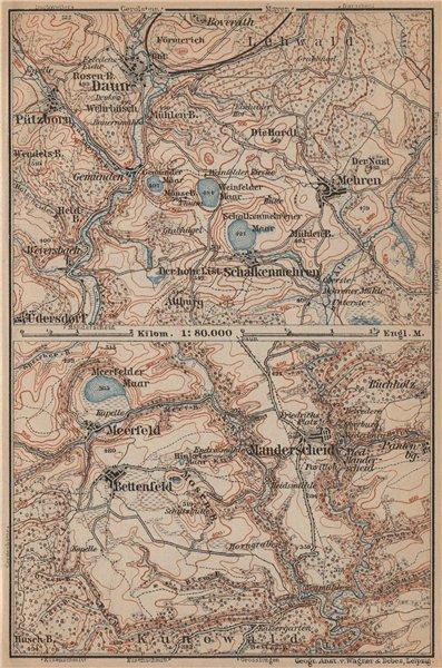 Associate Product DAUNER & MEERFELDER MAARE. Manderscheid Malberg Schalkenmehren karte 1903 map