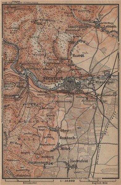 NEUSTADT AN DER WEINSTRAßE & WINZINGEN. Neustadt an der Haardt karte 1903 map