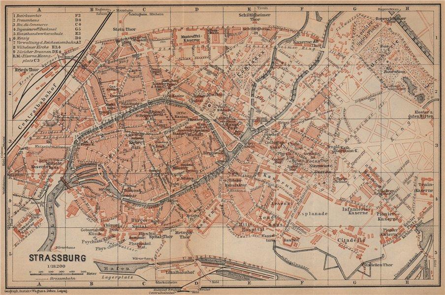 Associate Product STRASBOURG town city plan de la ville. Straßburg. Bas-Rhin carte 1903 old map