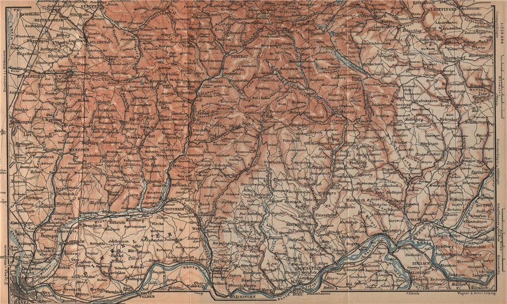 Associate Product SÜDSCHWARDWALD. BLACK FOREST SOUTHERN VALLEYS. Basel Lörrach Schopfheim 1903 map
