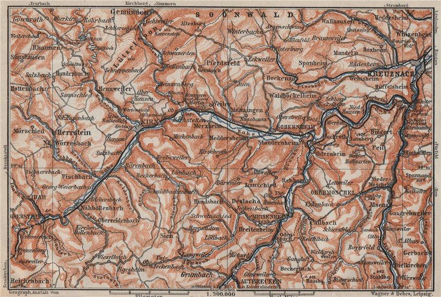 Associate Product NAHETAL. Idar-Oberstein Kirn Monzingen Rüdesheim Kreuznach Sobernheim 1906 map