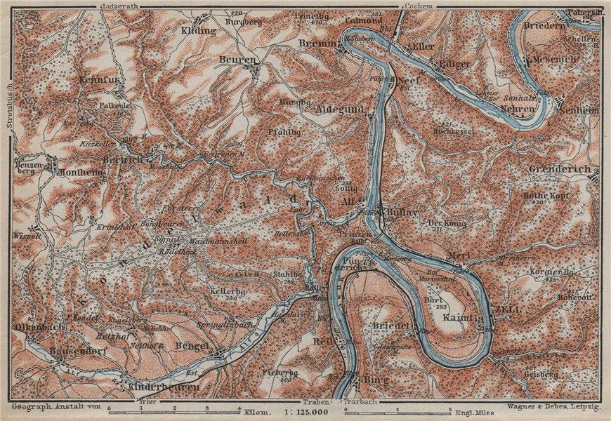 Associate Product MOSEL. Zeller Hamm. Alf Kondelwald Moselle Eifel. Rhineland-Palatinate 1906 map