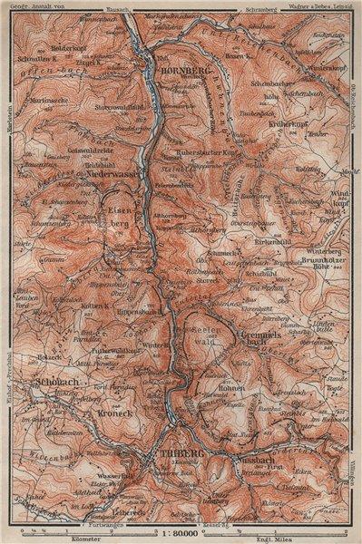 Associate Product TRIBERG & HORNBERG umgebung. Schwarzwald Wasserfälle Baden-Württemberg 1906 map